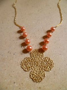 Peaches And Flowers Necklace, £8.50