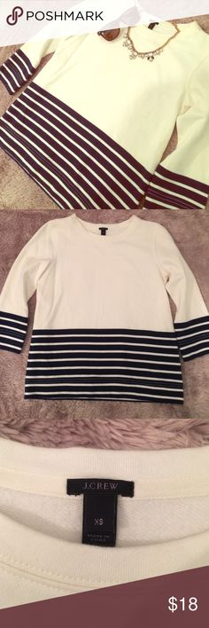 ⚡️SALE⚡️J Crew sweater ON SALE THROUGH 12/24!! This uber preppy J. Crew sweater is a perfect transitional piece for your closet.  It's in excellent condition and is a gorgeous staple to add to any closet.  Feel free to make an offer using the offer button! J. Crew Sweaters Crew & Scoop Necks