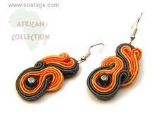 Fireball earrings by SoutageAnka on Etsy, zł70.00