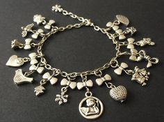 Items similar to Fine Small Charm Bracelet on Etsy Designer Jewellery, Jewelry Design, Unique Jewelry, Charmed, Trending Outfits, Handmade Gifts, Bracelets, Etsy, Vintage