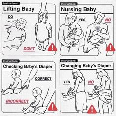Baby Beratung – Babypflege - Home Baby Care Page Stupid Memes, Funny Jokes, Baby Humour, Baby Handling, Baby Memes, Funny Relatable Quotes, Parenting Humor, Parenting Advice, Funny Babies