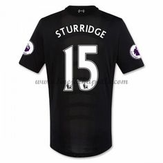 27c12bff7e Jalkapallo Pelipaidat Liverpool 2016-17 Sturridge 15 Vieraspaita