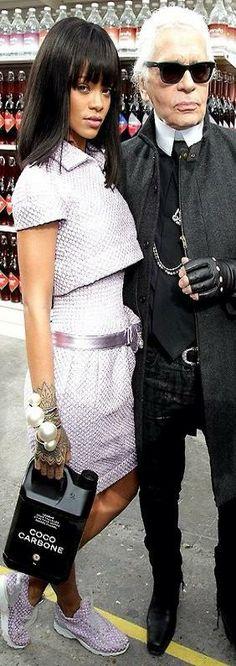 Rihanna & Karl Lagerfeld, Fashion Week | LBV ♥✤
