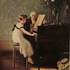 """The music lesson"" by Jules Alexis Muenier (1863-1942)"