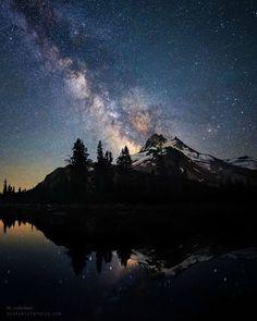 Milky Way over   Mt. Jefferson Oregon US |  OurEarthInFocus