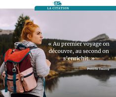 """""""Au premier voyage on découvre, au second on s'enrichit."""" Sling Backpack, Leather Backpack, Camping Car, Backpacks, Inspiration, Bags, Camping Heater, Travel, Biblical Inspiration"""