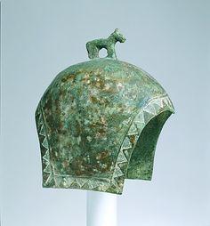 Helmet with a Standing Horse Date: ca. 7th century B.C. Culture: Northeast China Medium: Bronze
