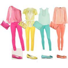 Monochromatic Colored Jeans