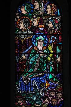 (Harry Clarke) The Last Judgement - Saint Patrick Art Deco Movement, Arts And Crafts Movement, Stained Glass Art, Stained Glass Windows, Pierre Loti, Harry Clarke, Irish Art, Saint Patrick, Window Art