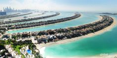 The incredible residences at Palm Jumeirah in aerial perspective. Palm Jumeirah, Aerial View, Perspective, Dubai, The Incredibles, River, Gallery, Outdoor, Outdoors