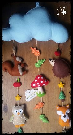 Woodland Baby Mobile Nursery Decor Baby by BerryBerriesCrafts