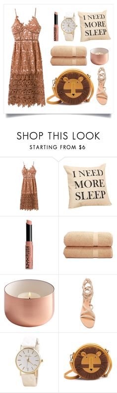 """""""Coffee dresses"""" by rosegal-official ❤ liked on Polyvore featuring NYX and Linum Home Textiles"""