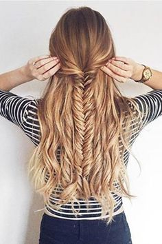 Hairstyles Videos Aprende cmo hacer una media cola con trenza espiga paso a paso.Hairstyles Videos Aprende cmo hacer una media cola con trenza espiga paso a paso Hair Day, New Hair, Your Hair, Cute Hairstyles For Teens, Cool Hairstyles, Hairstyle Ideas, Summer Hairstyles, Fishtail Braid Hairstyles, Latest Hairstyles