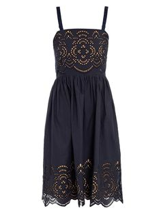 Beach baby cut-out embroidered dress