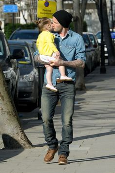David & Harper Beckham    #davidbeckham #daughter #celebrities