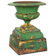 Late 19th Century Five Piece Cast Iron Urn | From a unique collection of antique and modern urns - 1stdibs