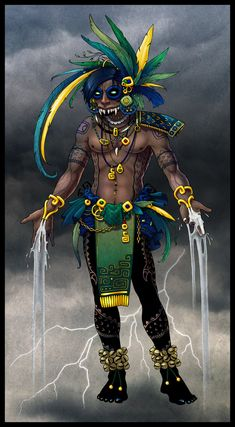 mesoamerican gods and goddesses - Yahoo Image Search Results Mexican Gods, Mexican Art, Yuka, Aztec Empire, Aztec Culture, Aztec Warrior, Celtic Mythology, Mythological Creatures, Mythical Creatures