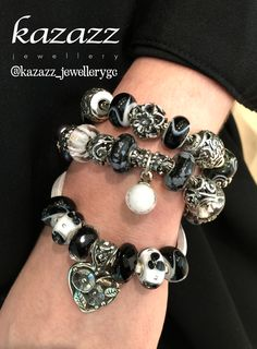 Trollbeads in Black and White. Available at Pacific Fair Kazazz Jewellery. #Trollbeads #KazazzJewellery #Blacknwhite #Black #White # Beads #Jewellery