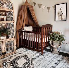 The savvy home decorator Baby Nursery Decor, Baby Bedroom, Baby Boy Rooms, Nursery Room, Kids Rooms, Nursery Ideas, Dark Wood Nursery, Nursery Neutral, Nursery Dark Furniture