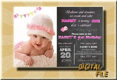 Birthday Invitations Girl Girl Birthday by DigitalitemsShop