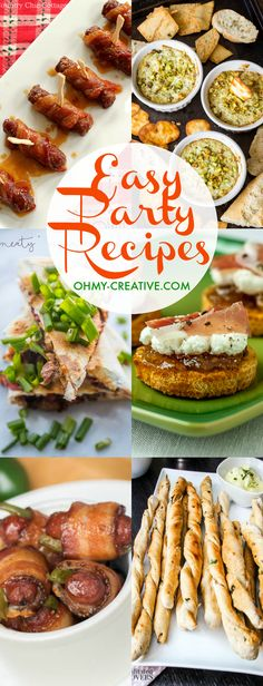 Are you looking for the perfect recipes for your Holiday Season? Check out these awesome and Easy Holiday Party Recipes for the perfect ideas. These delicious recipes range from appetizers, main courses and desserts. |  OHMY-CREATIVE.COM