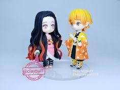 Nezuko and Zinetsu Clay Art, Chibi, Polymer Clay, Anime, Cartoon Movies, Anime Music, Animation, Modeling Dough, Anime Shows