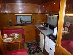 """1940 Vagabond Trailer...I love the rolling """"cabin"""" look"""
