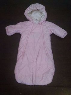2e4e3d53d Uniqlo Baby Girl Snowsuit Bunting Pink Lilac Quilted Fleece Lined Hood 0-9M  #Uniqlo