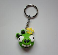 Angry Piggy keychain
