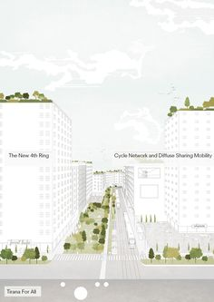 Image 17 of 21 from gallery of Tirana 2030: Watch How Nature and Urbanism Will Co-Exist in the Albanian Capital. The city aims to be easily accessible for the elderly and very young. Image Courtesy of Attu Studio