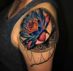 Lotus Flower & Moon