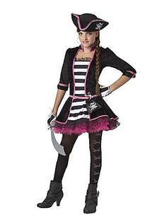 Teen Girls High Seas Pirate Costume - Pirate Costumes - Costumes by Theme  sc 1 st  Pinterest & tween halloween costumes for girls | Girls Amethyst Fairy Costume ...
