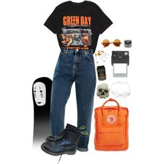 grunge by shelly-alk on Polyvore featuring Dr. Martens, Fjällräven, Kreepsville 666 and Donkey Products