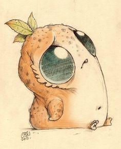 (Monster by Chris Ryniak) Illustration Photo, Illustrations, Cute Monsters Drawings, Cool Drawings, Monster Drawing, Monster Art, Creation Art, Dibujos Cute, Little Monsters