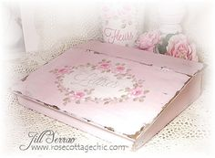 Image detail for -... Painted Lap Desk -- Pink, Shabby, French Chic w/HP Pink Roses! SOLD.