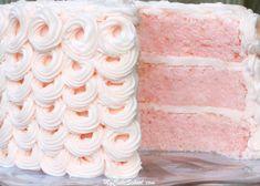 Pink+Champagne+Cake+{Scratch+Recipe}