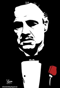 Marlon Brando as Don Vito Corleone, using Krita 2.5 Beta.