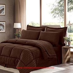 Sweet Home Collection 8 Piece Bed In A Bag with Dobby Stripe Comforter, Sheet Set, Bed Skirt, and Sham Set – Queen – Chocolate BUY NOW     $59.99    Spruce up your bedroom with our 8 piece hotel style dobby stripe embossed down alternative  ..  http://www.homeaccessoriesforus.top/2017/03/10/sweet-home-collection-8-piece-bed-in-a-bag-with-dobby-stripe-comforter-sheet-set-bed-skirt-and-sham-set-queen-chocolate/