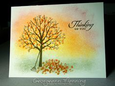 Stampin' Everything!: Sheltering Tree, Wetlands One Layer Card