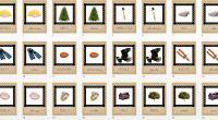 Colección de tarjetas de vocabulario LETRA A imágenes reales fondo blanco