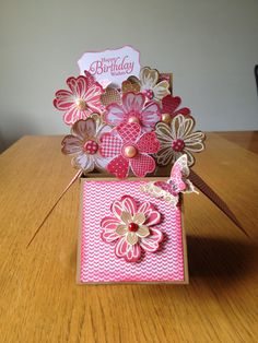 Card in a Box made with the Stampin Up Flower Shop set. rosejaycreations.blogspot.co.uk