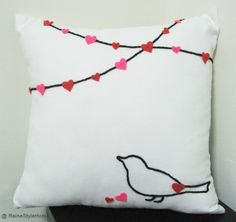 felt valentine pillow