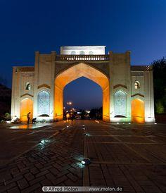 Quran gate in #Shiraz - #Iran at night