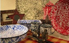 Crow Canyon Home enamelware by CGS International - today's graniteware