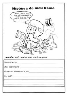 """O Mundo da Alfabetização: """"História do meu nome"""""""