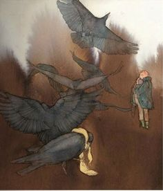 "Brother Grimm ""The seven ravens"" illustrated by Lisbeth Zwerger"