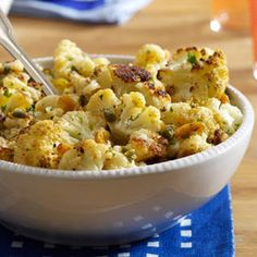 Browned Butter Roasted Cauliflower Recipe from Taste of Home -- shared by Gina Myers of Spokane, Washington Source by taste_of_home Roasted Cauliflower, Cauliflower Recipes, Veggie Dishes, Food Dishes, Side Dish Recipes, Vegetable Recipes, Catering, Food Porn, Cooking Recipes