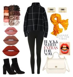 """Fallen Fall"" by znhelen on Polyvore featuring Topshop, Chicwish, Reed Krakoff, Valentino, Dolce&Gabbana, LORAC, NYX, Lime Crime and Kate Spade"