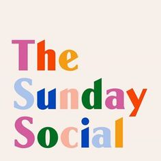 A super colourful cover for Lucy Moon's new Sunday brunch pop culture podcast, @thesundaysocialpodcast 🌈