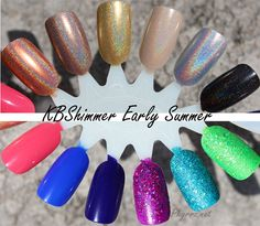 KBShimmer Early Summer collection review. So pretty! I need some of these!